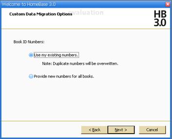 Existing ID Numbers - HB 3 Beta 2